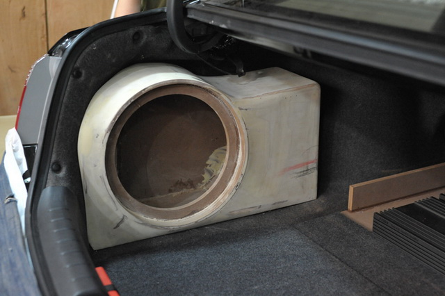 尾箱美国捷力jl 12w3 十二寸低音炮倒模工艺展示图片